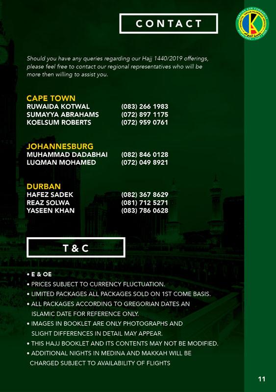 Hajj 2019/1440 Packages – Khidmatul A'waam Pilgrim Services